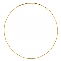 Goldplated soft necklace OM125 42cm
