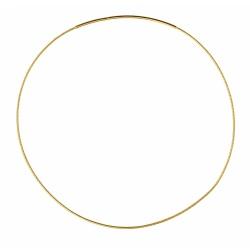 Goldplated Soft necklace diamented OM125 45cm
