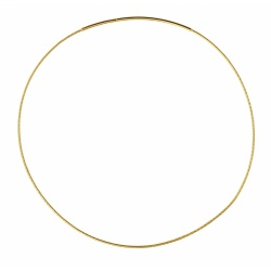 Goldplated Soft necklace diamented OM125 50cm