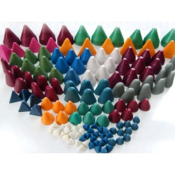 Plastic chips K128BM white